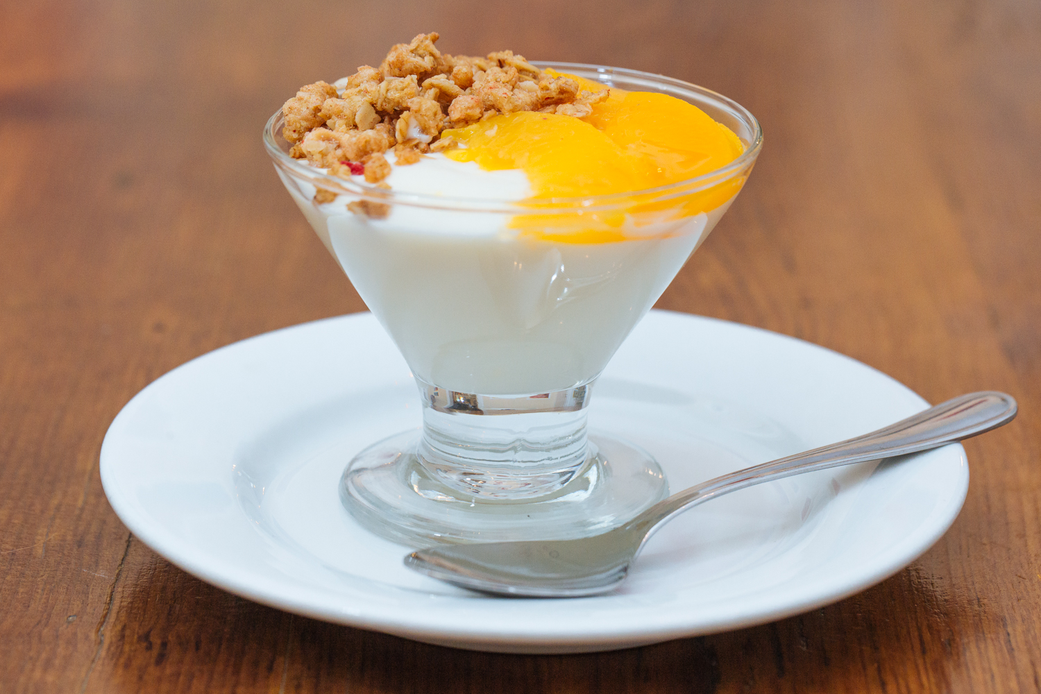 Yogurt and Peach Parfait