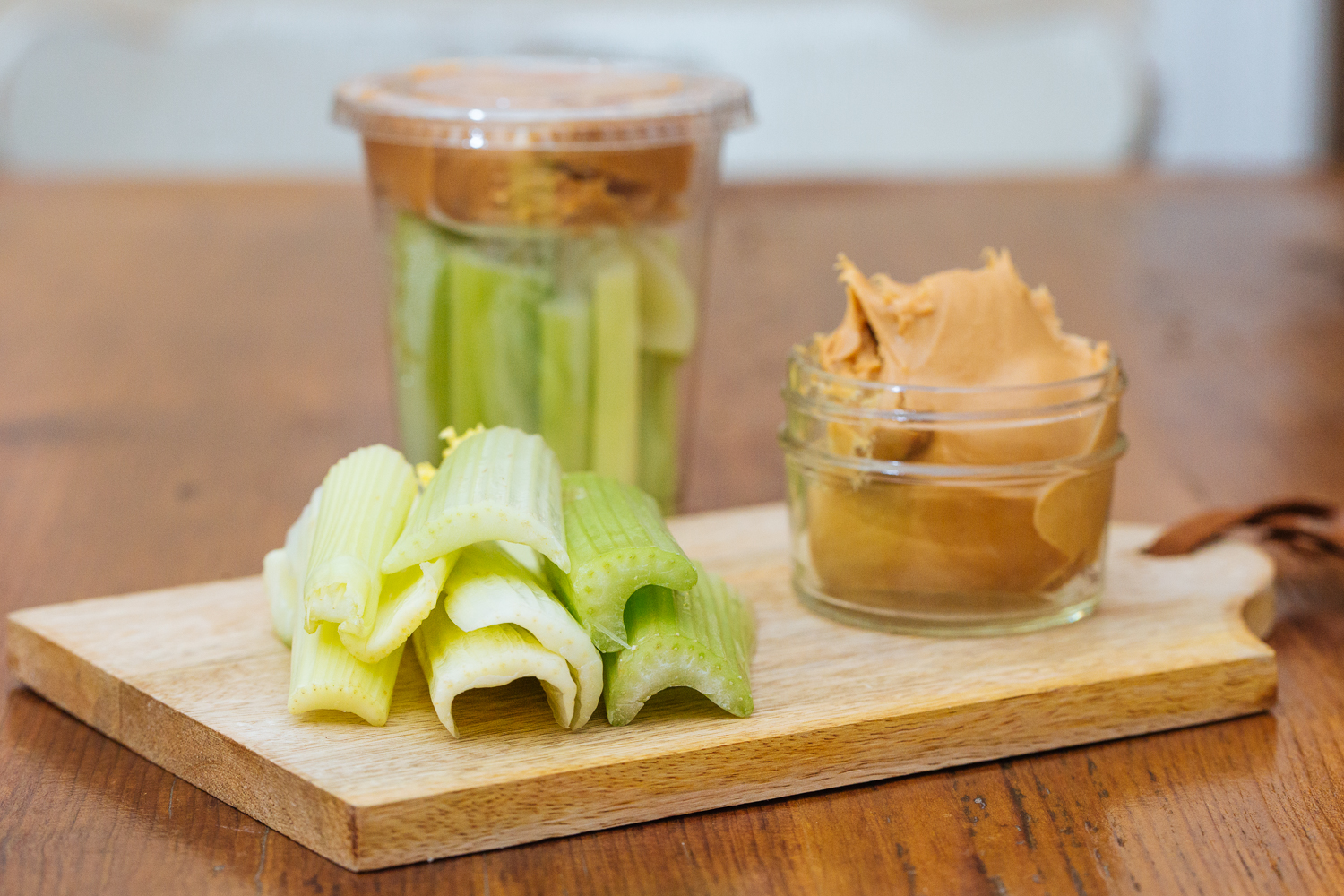 Celery and Peanut Butter Snack Cup